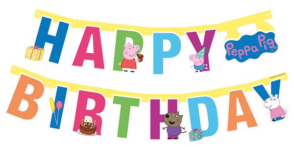 Peppa Wutz - Happy Birthday Girlande