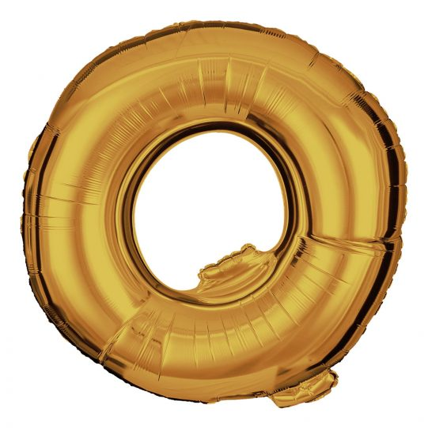 Folienballon Buchstabe Q Gold 100cm
