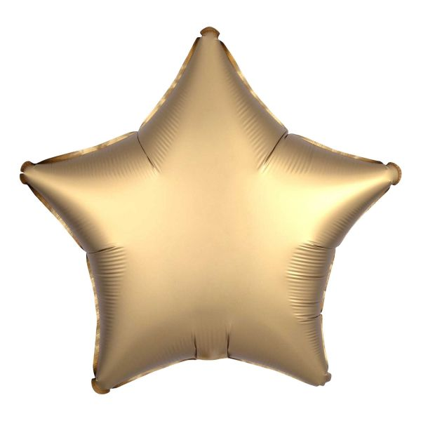 Folienballon Stern Satin Gold 45cm