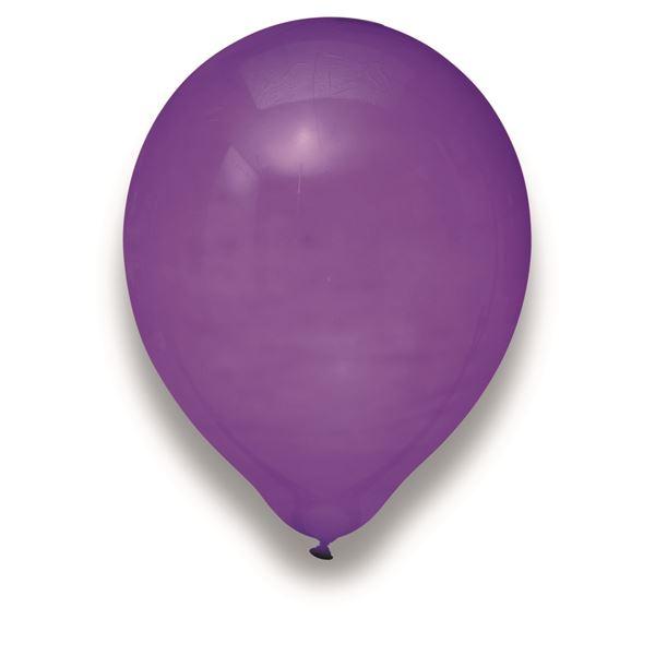 Latexballon Kristall Lila 50 Stück Ø 30cm