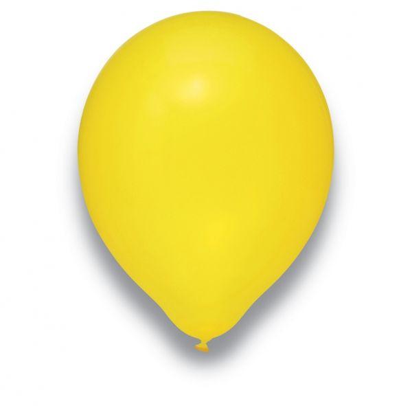 Latexballon Kristall Gelb 50 Stück Ø 30cm
