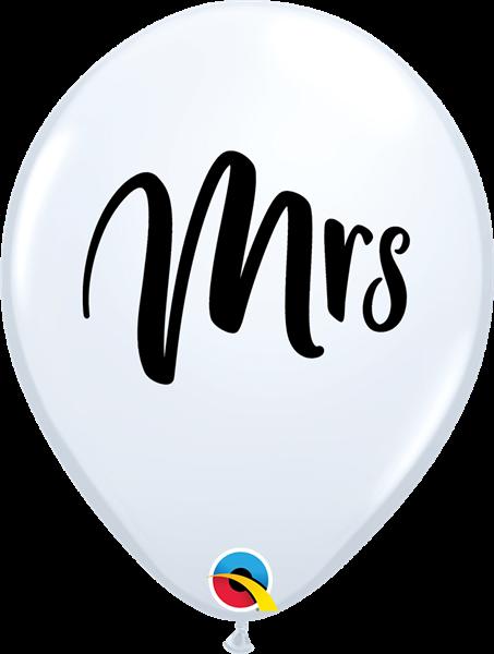 "Qualatex Hochzeitsballon ""Mrs."" 30cm"