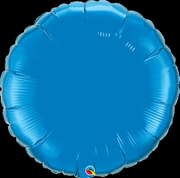 Folienballon Rund Saphirblau 90 cm
