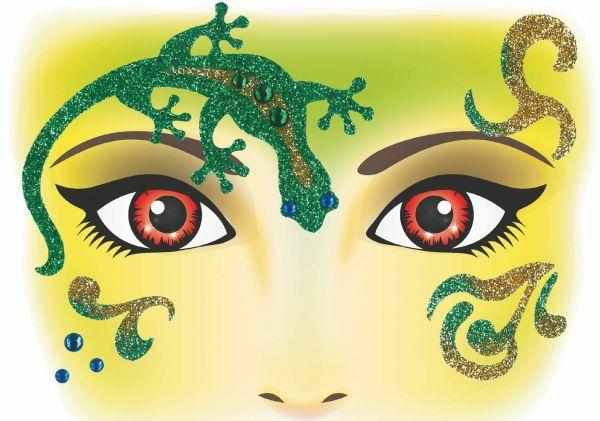 Face Art Sticker - Gecko