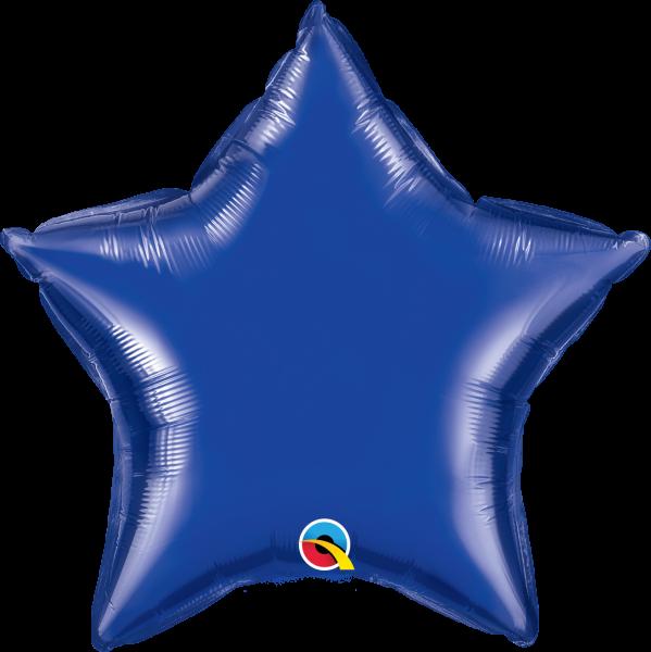 Folienballon Stern Dunkelblau 45cm
