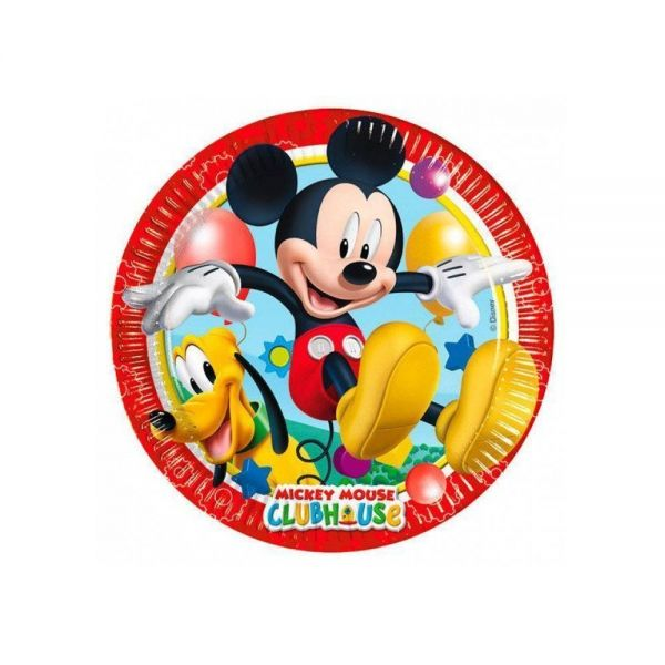 Mickey Mouse - 8 Pappteller