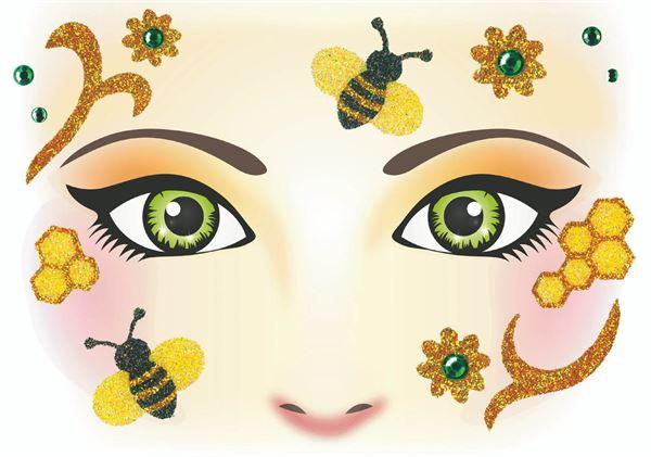 Face Art Sticker - Biene