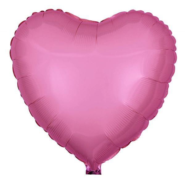 Folienballon Herz Rose 45cm