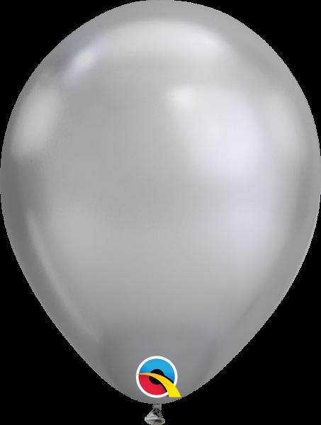 Qualatex Latexballon Chrome Silver 30cm