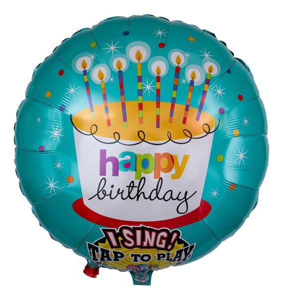 Musikballon Geburtstags-Torte 71cm