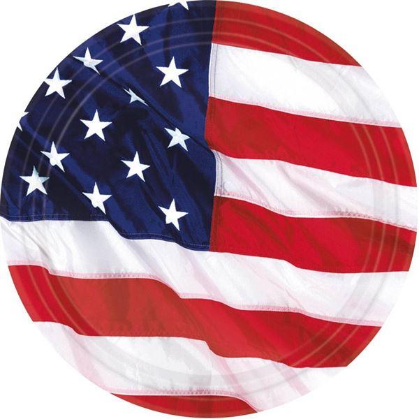 USA - 8 Pappteller