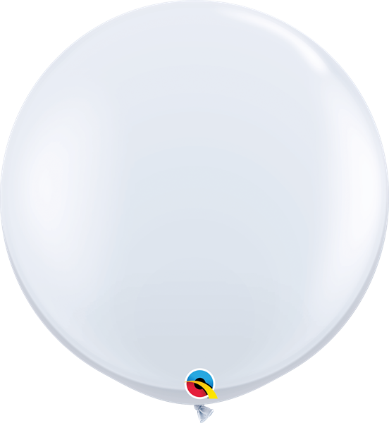 Qualatex Latexballon Gigant White Ø 90cm