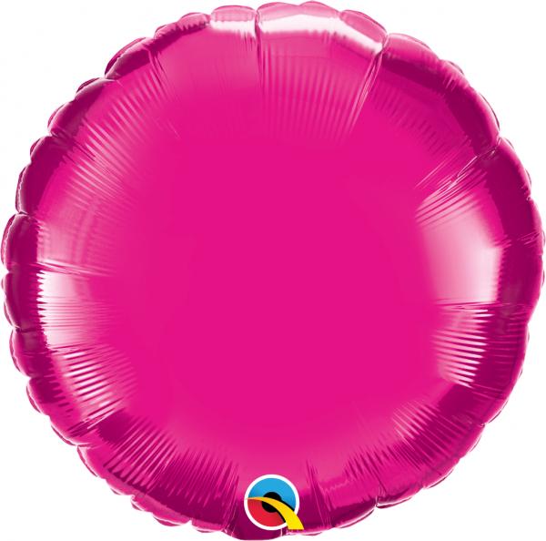 Folienballon Rund Pink 45cm