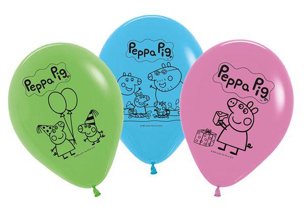 Peppa Wutz - 6 Latexballons
