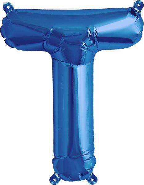 Luftballon Buchstabe T Blau 40cm