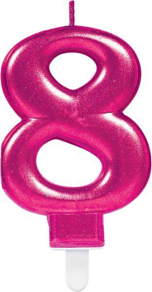 """Sparkling Celebrations Pink - Zahlenkerze """"8"""""""
