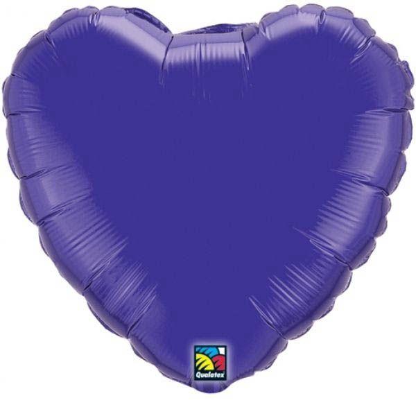 Folienballon Herz Lila 45cm