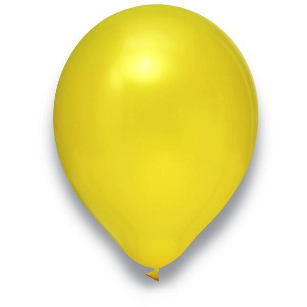 Latexballon Metallic Gelb 100 Stück Ø 30cm