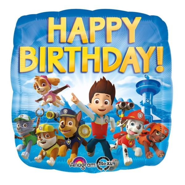 "Folienballon Paw Patrol ""Happy Birthday"" 45cm"