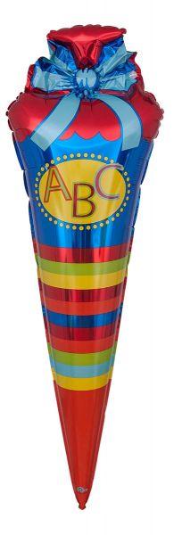Folienballon ABC Schultüte 35x111cm