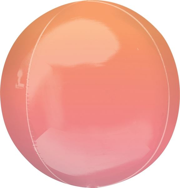 Orbz Ballon Ombré Rot & Orange 40cm