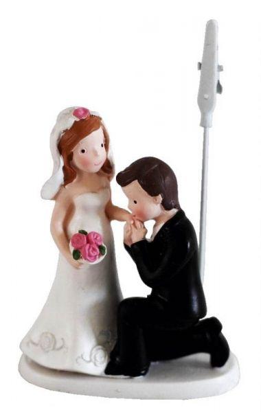 Brautpaar Handkuss klein mit Clip