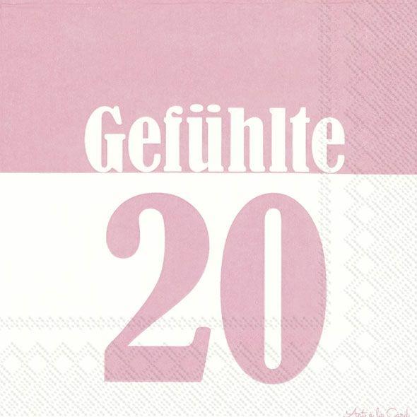 Gefühlte 20 - 20 rosa Geburtstags-Servietten