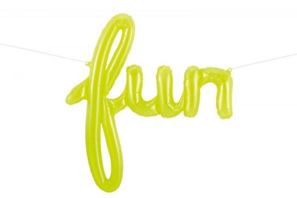 Folienballon-Girlande Script Fun Grün