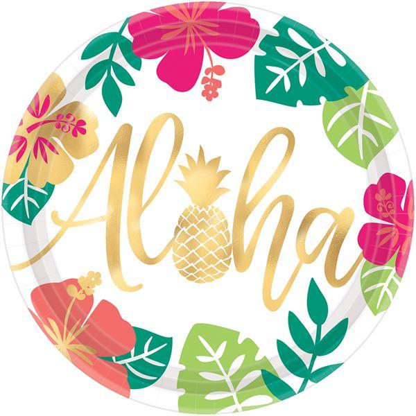 Aloha - 8 Pappteller