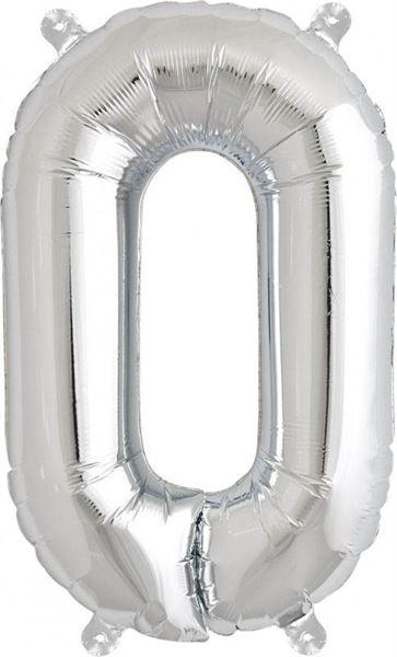 Luftballon Buchstabe O Silber 40 cm
