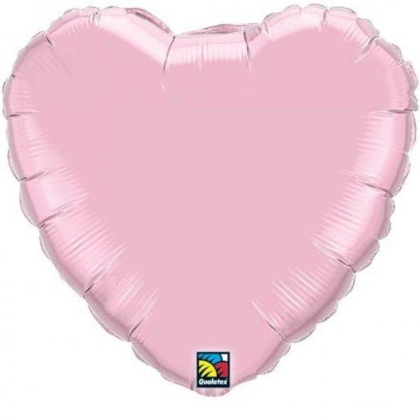 Folienballon Herz Pearl Pastell Rosa 45cm