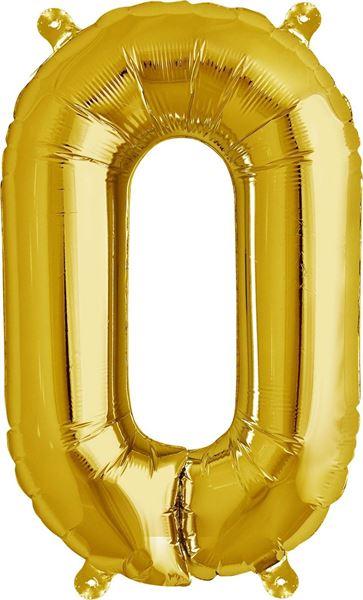 Luftballon Buchstabe O Gold 40 cm