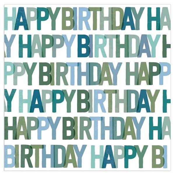 20 Geburtstags-Servietten - HappyBirthday- Petrol