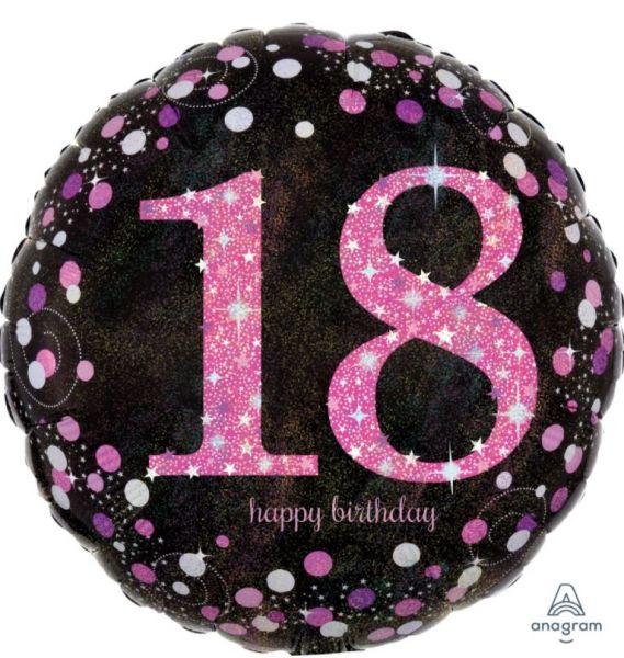"""Folienballon Pink Celebration """"18"""" 43cm"""