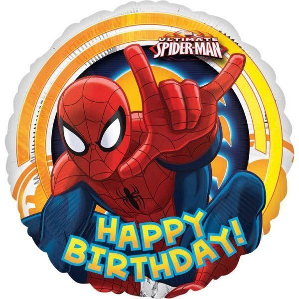 Folienballon Der ultimative Spiderman Happy Birthday 43cm