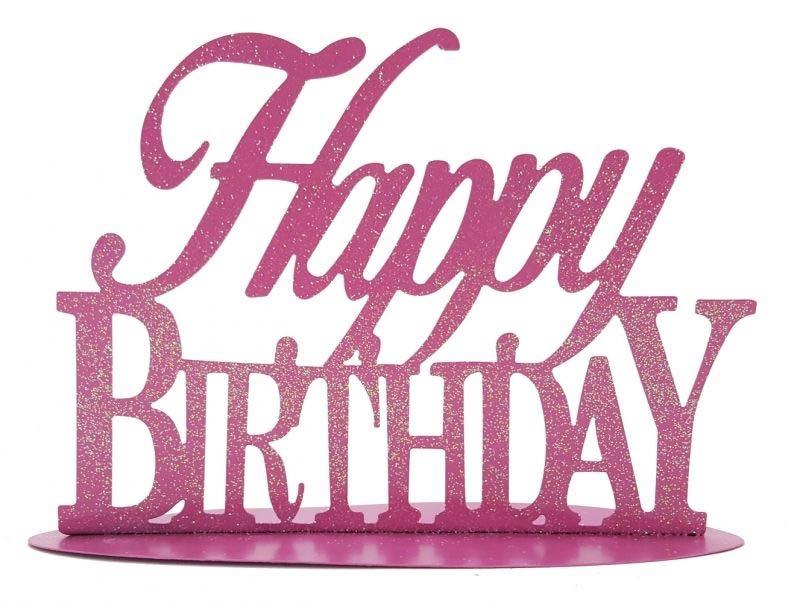 Metallstander Happy Birthday Rosa Happy Birthday Geburtstag
