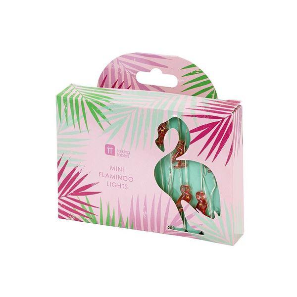 Kuba Fiesta - Mini Flamingo LED-Lichterkette