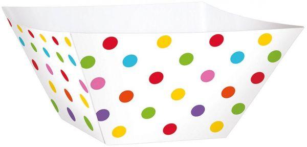 Paper Minis - 24 Snack Schalen Polka Dots Regenbogen