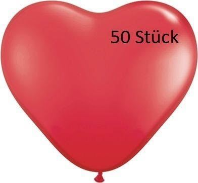 Herzballon Rot 35cm 50 Stück