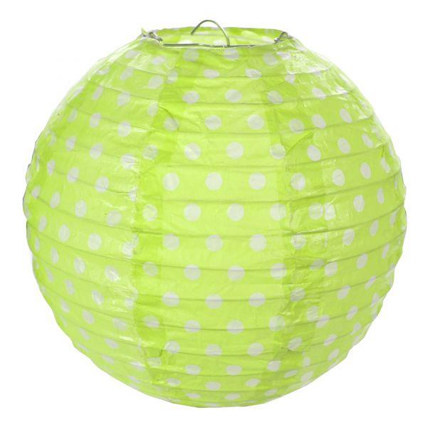 Grün Punkte - 2 Laternen Größe M