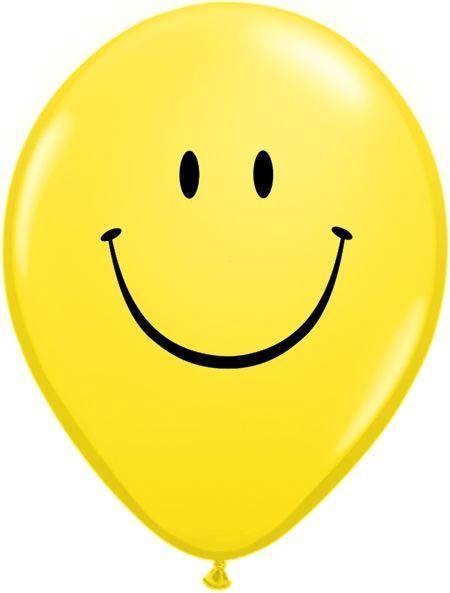 """Qualatex Latexballon """"Smiley"""" Gelb Ø 30cm"""