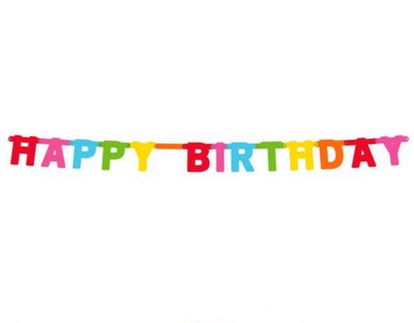 Happy Birthday Girlande Bunt