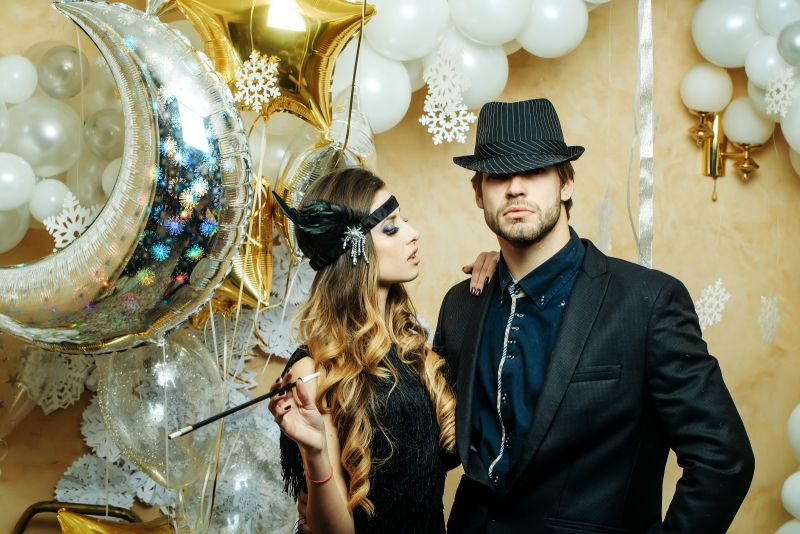 Hollywood Motto Partys Silvester Anlasse Happy Balloon