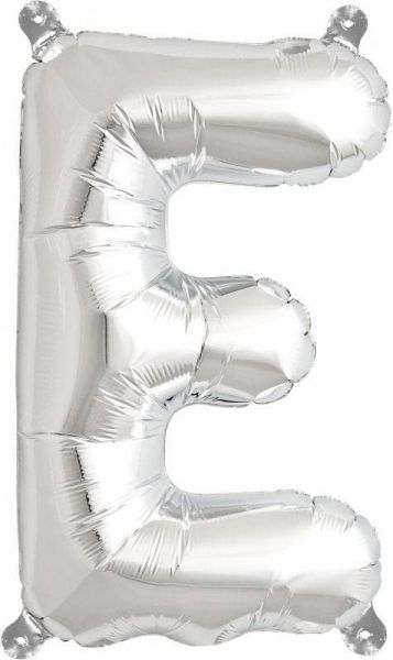 Luftballon Buchstabe E Silber 40cm