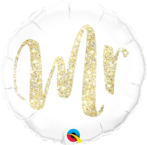 Folienballon Mr. Glitzer Gold 45cm