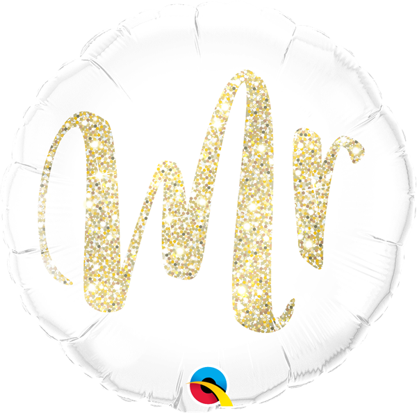 Folienballon Mr. Glitzer Gold 45cm