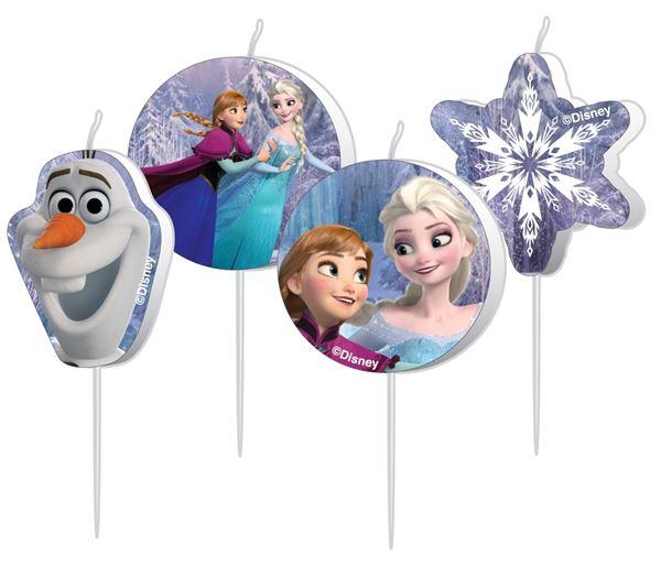 Die Eiskönigin - 4 Mini Figurenkerzen