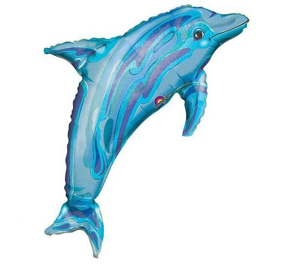 Folienballon Delfin Blau 84x56cm