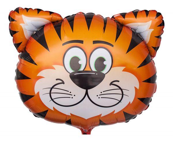 Folienballon Tiger Kopf 58x51 cm