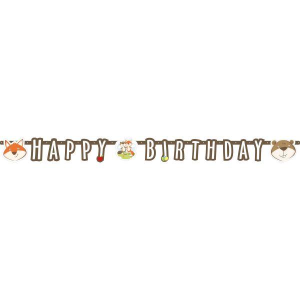 "Fuchs & Biber - Geburtstags-Girlande ""Happy Birthday"""